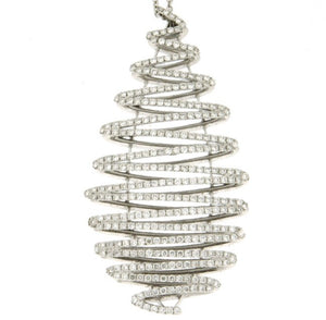 Piero Milano 18K White Gold Diamond Necklace - Made in Paradise Luxury