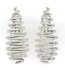 Piero Milano 18K White Gold Diamond Earrings - Made in Paradise Luxury