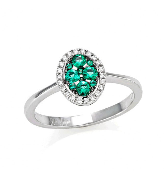Piero Milano 18K White Gold Diamonds Emerald Ring - Made in Paradise Luxury