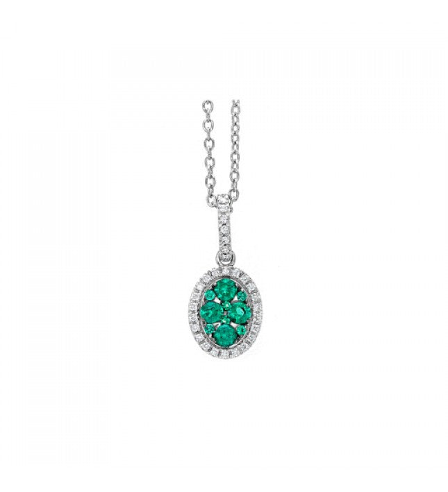 Piero Milano 18K White Gold Diamonds Emerald Necklace - Made in Paradise Luxury