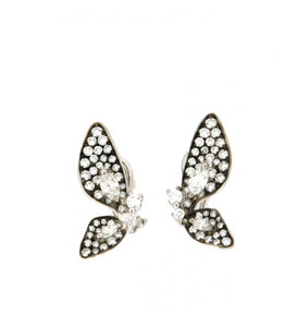 Piero Milano 18K White and Rhodium Black Gold Diamonds Butterfly Earrings - Made in Paradise Luxury
