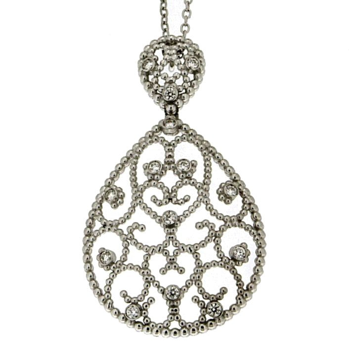 Piero Milano 18K White Gold Diamonds Necklace - Made in Paradise Luxury