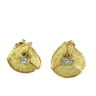 Piero Milano 18K Yellow Gold Diamonds Earrings - Made in Paradise Luxury