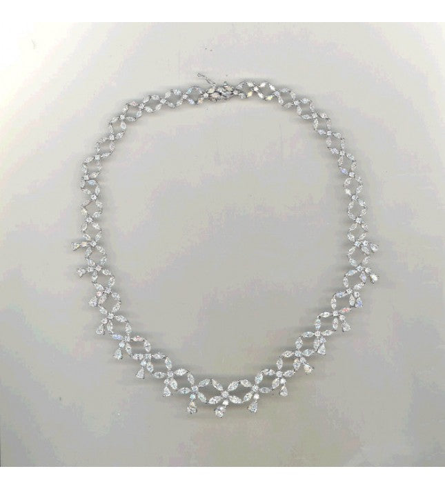 Piero Milano 18K White Gold Classic Diamond Necklace - Made in Paradise Luxury