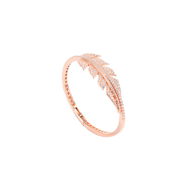 Jewel Trend Rose Gold Plated with Cubic Zirconia Fashion Amora Bangle - Made in Paradise Luxury