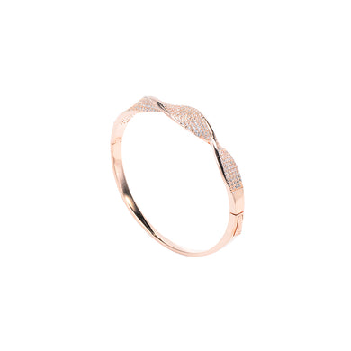 Jewel Trend Rose Gold Plated with Cubic Zirconia Fashion Anette Bangle - Made in Paradise Luxury