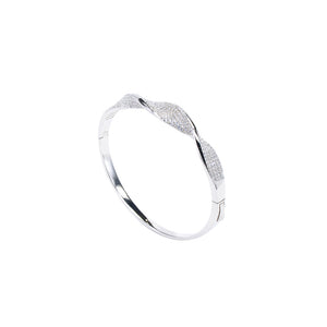 Jewel Trend Silver with Cubic Zirconia Fashion Anette Bangle - Made in Paradise Luxury