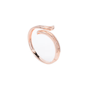 Jewel Trend Rose Gold Plated with Cubic Zirconia Fashion Eden Bangle - Made in Paradise Luxury