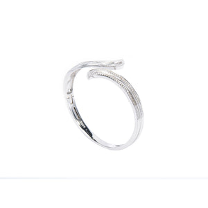 Jewel Trend Silver with Cubic Zirconia Fashion Eden Bangle - Made in Paradise Luxury