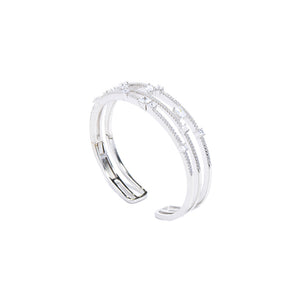 Jewel Trend Silver with Cubic Zirconia Fashion Mya Bangle - Made in Paradise Luxury