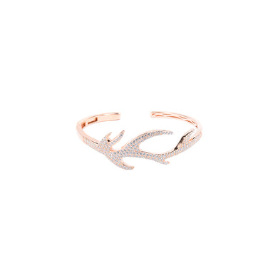 Jewel Trend Rose Gold Plated with Cubic Zirconia Fashion Nori Bangle - Made in Paradise Luxury