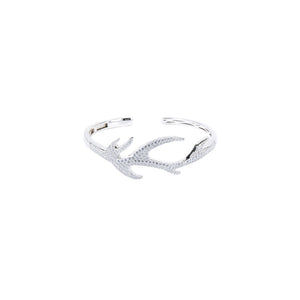 Jewel Trend Silver with Cubic Zirconia Fashion Nori Bangle - Made in Paradise Luxury
