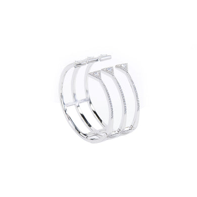 Jewel Trend Silver with Cubic Zirconia Fashion Avery Bangle - Made in Paradise Luxury