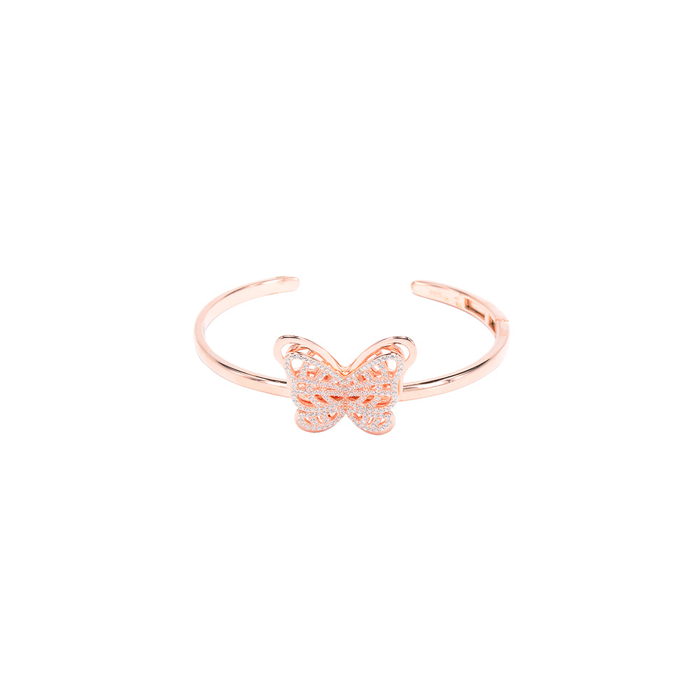 Jewel Trend Rose Gold Plated with Cubic Zirconia Fashion Fantasy Bangle - Made in Paradise Luxury
