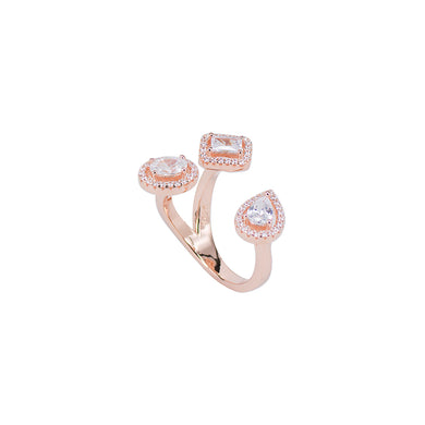 Jewel Trend Rose Gold Plated with Cubic Zirconia Fashion Dova Ring - Made in Paradise Luxury