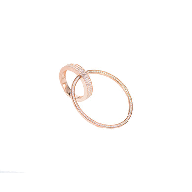 Jewel Trend Rose Gold Plated with Cubic Zirconia Fashion Victoria Ring - Made in Paradise Luxury