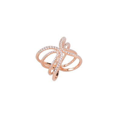 Jewel Trend Rose Gold Plated with Cubic Zirconia Fashion Chloe Ring - Made in Paradise Luxury