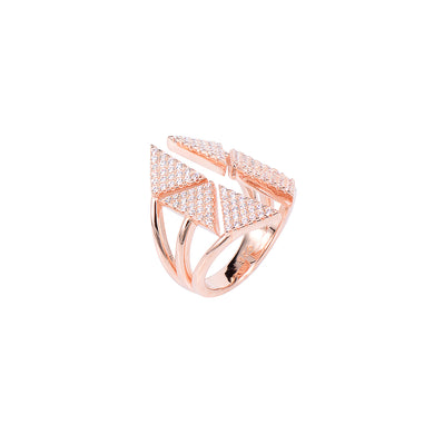 Jewel Trend Rose Gold Plated with Cubic Zirconia Fashion Miki Ring - Made in Paradise Luxury