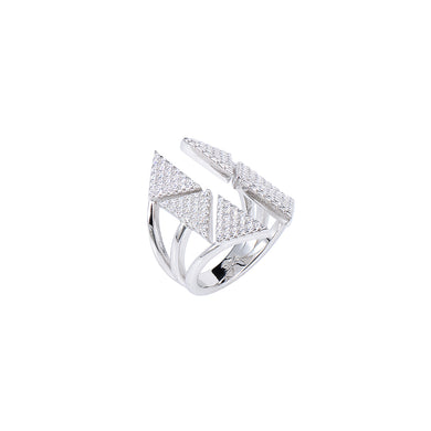 Jewel Trend Silver with Cubic Zirconia Fashion Miki Ring - Made in Paradise Luxury
