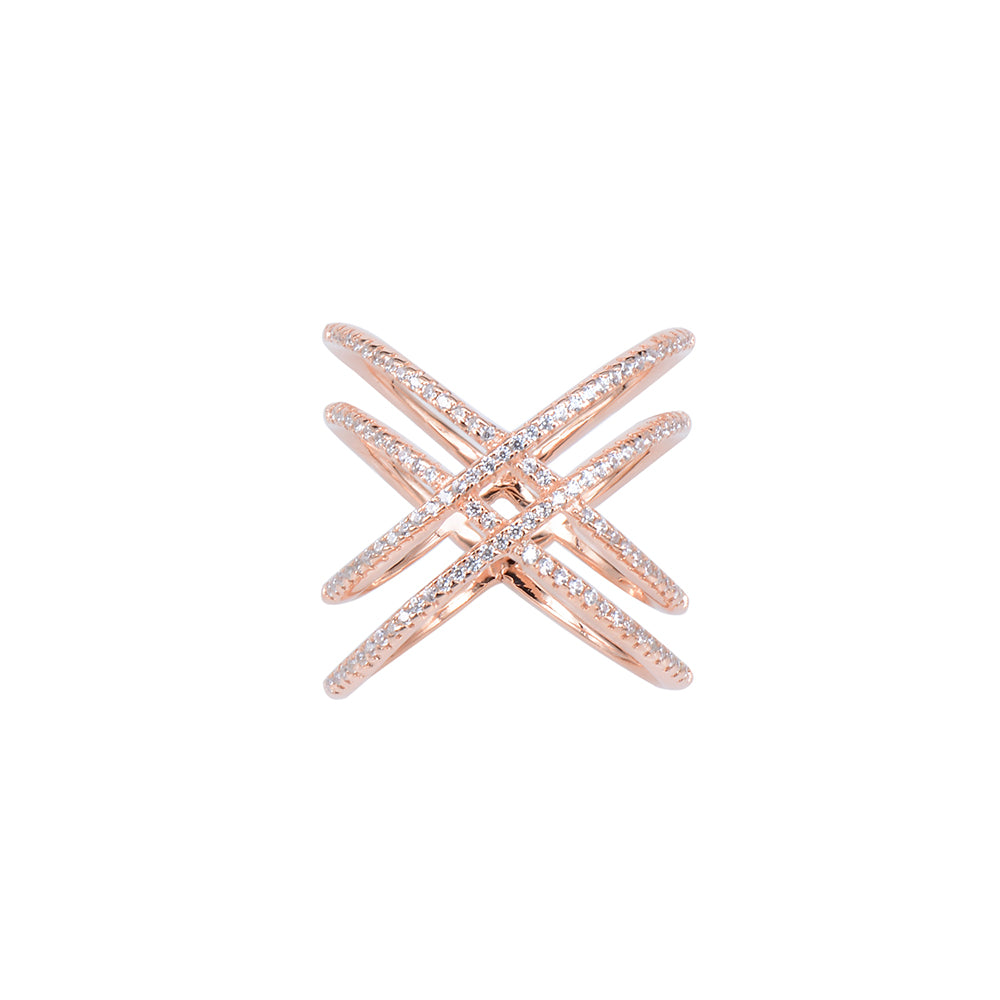 Jewel Trend Rose Gold Plated with Cubic Zirconia Fashion Alexa Ring - Made in Paradise Luxury