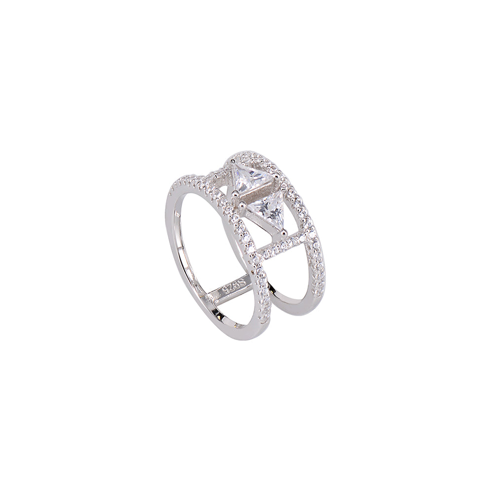 Jewel Trend Silver with Cubic Zirconia Fashion Avery Ring - Made in Paradise Luxury