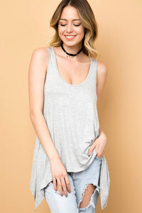 Freedom Tank-Heather Grey | Wanderlust Boutique | | Arrow Women's Boutique
