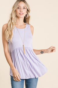 Lilac Babydoll Tank | Bombom | | Arrow Women's Boutique
