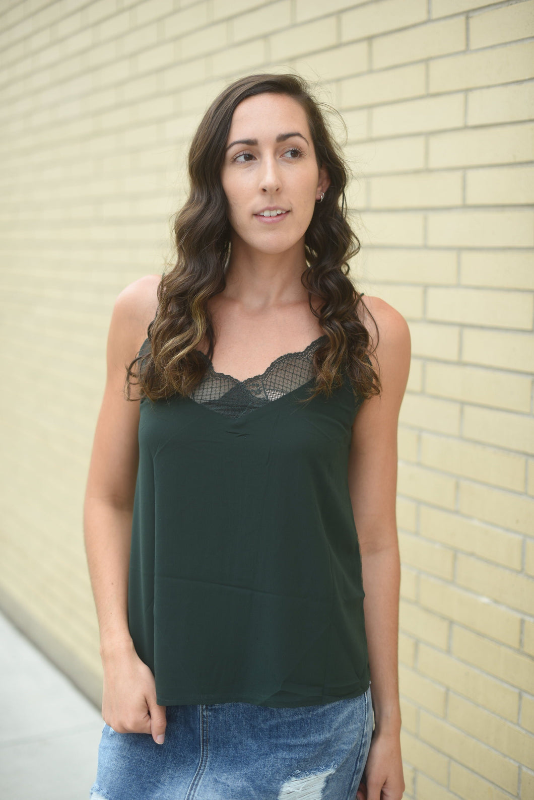 Lovely Lacey Tank - Green | Arrow Boutique | | Arrow Women's Boutique