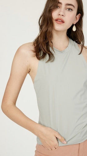 Muscle Tank w/ a Twist | Listicle | Listicle | Grey Small | Arrow Women's Boutique