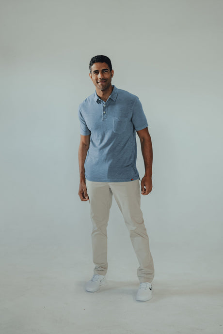 Slub polo light indigo | Normal Brand | | Arrow Women's Boutique