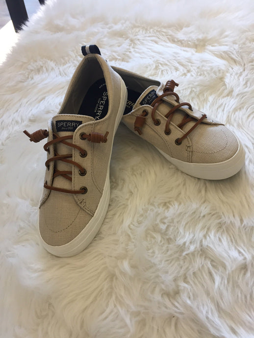 Sperry Crest Vibe Linen Oat | Sperry | | Arrow Women's Boutique