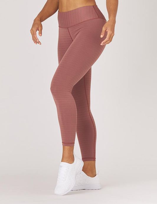 Sultry Legging Cocoa/Rose Gold Stripe l Glyder | Glyder | | Arrow Women's Boutique