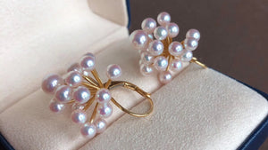 aurora ten-nyo akoya pearl earrings