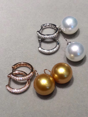 south sea pearl mikimoto earrings