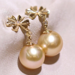 Load image into Gallery viewer, mabe golden south sea pearl earearrings sale