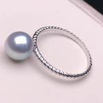 Load image into Gallery viewer, Regal Collection 7.0-7.5 mm White Akoya Pearl Terrie Ring - takaramonobr