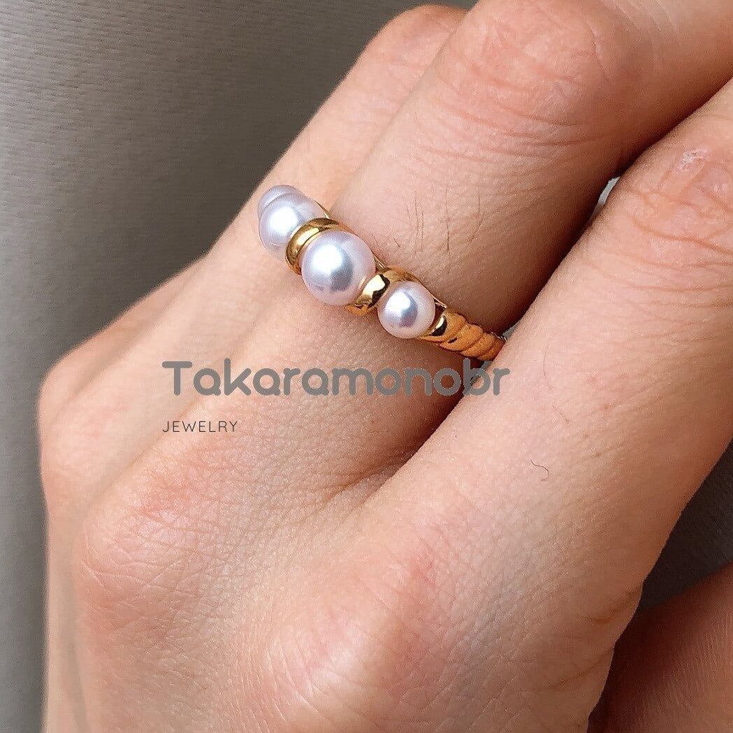 pearl jewellery japanese pearl ring
