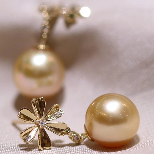 vintage golden south sea pearl jewlery