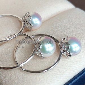 Classic Collection 7.5-8 mm Japanese Akoya Pearl Ring - takaramonobr