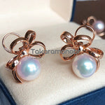 Load image into Gallery viewer, Flower Collection 8.5-9.0 mm White Akoya Pearl & Diamond Earrings/Ring/Pendant/Set for Woman - takaramonobr