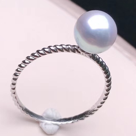 Regal Collection 7.0-7.5 mm White Akoya Pearl Terrie Ring - takaramonobr
