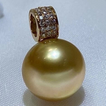 Load image into Gallery viewer, majorica golden south sea pearl earrings nordstrom