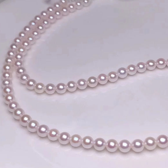 5.5-6.0 mm Mini White Akoya Pearl Necklace whole length