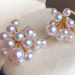 Load image into Gallery viewer, Luxury Series Aurora TEN-NYO Luster White Akoya Pearl Earrings - takaramonobr