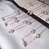 6.5-7.0 mm White Akoya Pearl Necklace side