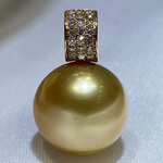 Load image into Gallery viewer, where do vantel golden south sea pearls come from