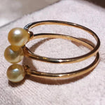 Load image into Gallery viewer, Row Collection 4.5-5.0 mm Akoya Pearl Ring in 18K Yellow Gold - takaramonobr