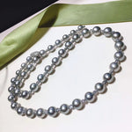 Load image into Gallery viewer, 24-Inches 8.0-11.0 mm AAA Round Tahitian Black Pearl Necklaces - takaramonobr