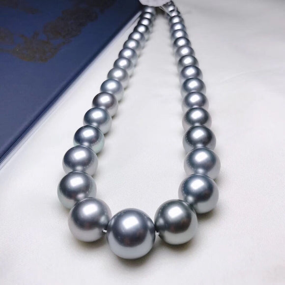11.0-14.0mm Tahitian Ocean Blue Pearl Necklace details
