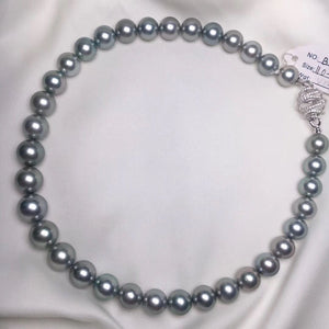Top Gem Quality | 11.0-14.0 mm Aurora Platinum Black Pearl Necklace | Pearl Science Laboratory Appraisal Certificate - takaramonobr